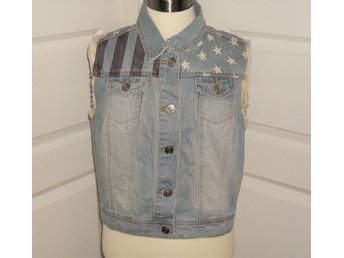 NEW LOOK Denim Väst Vest Jeans America Stars USA London - Väddö - NEW LOOK Denim Väst Vest Jeans America Stars USA London - Väddö