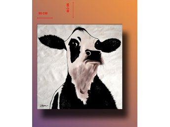 Abstrakt oljemålning på duk, 90x90 cm - Tollarp - Abstrakt oljemålning på duk, 90x90 cm - Tollarp