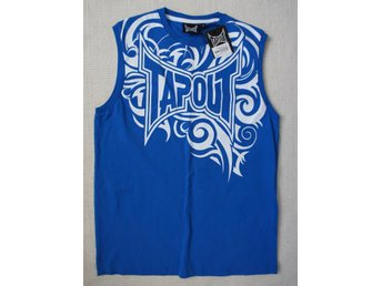 Tapout MMA fighting kampsport blå linne t-shirt stl Small