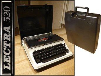 1970-TAL LECTRA RESE SKRIVMASKIN BLACK & WHITE (Samlar exemplar.) - Storfors - 1970-TAL LECTRA RESE SKRIVMASKIN BLACK & WHITE (Samlar exemplar.) - Storfors