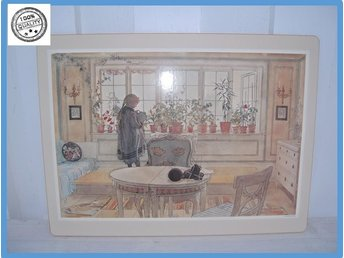 Carl Larsson bordstablett i kork Made in Sweden Som ny men VINTAGE blomstermotiv