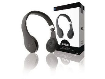 Sweex Headset On-Ear Bluetooth Inbyggd Mikrofon Svart