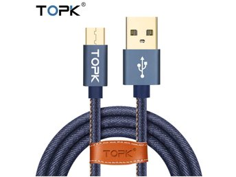 120cm Nylon Braided Micro USB Cable for Xiaomi Samsung Huawei Sony LG - BLUE