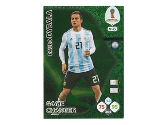 2018 Panini Adrenalyn XL FIFA World Cup Russia Game Changer Paulo Dybala