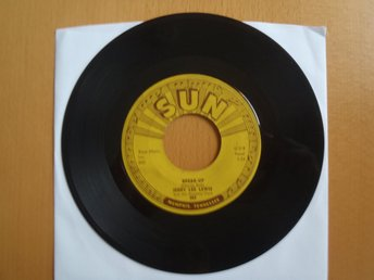Jerry Lee Lewis Break Up  rare USA Sun 45