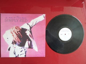 SIMPLY RED, A NEW FLAME, TO BE WITH YOU, LP, LP-SKIVA