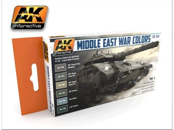 AK Interactive Middle East War Colors Vol 1