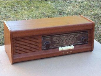 """DUX V392 Gammal """"antik"""" radio i teak från slutet av 1950-talet. med FM(UKV) - Nol - DUX V392 Gammal """"antik"""" radio i teak från slutet av 1950-talet. med FM(UKV) - Nol"""