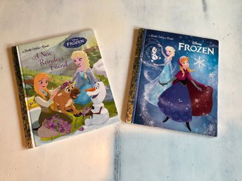 Little Golden Book Frozen (Frost bok) 2 st, Engelska