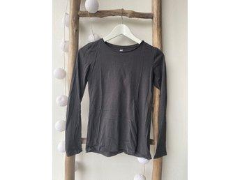Grå långärmad tröja, 146 152, HM