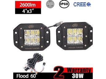 2x 30W CREE Flush Mount LED - Järna - 2x 30W CREE Flush Mount LED - Järna