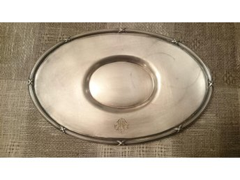 Plate med monogram,   Mappin & Webb's, Princes Plate