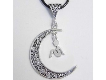 Kvinna måne halsband / Woman moon necklace