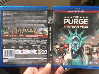 The Purge - Election Year Fd hyrfilm blu-Ray Fri frakt!