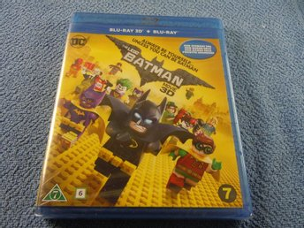 THE LEGO BATMAN MOVIE BLU-RAY 3D / SVENSKT TAL