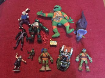 Teenage Mutant Ninja Turtles figurer och örngott TMNT