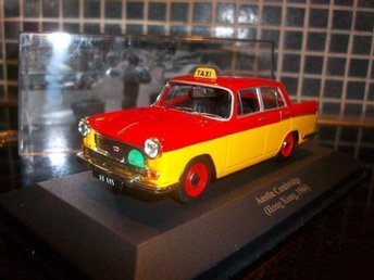 Austin Cambridge, Taxi Hong Kong 1964, rödgul,143, MINT!