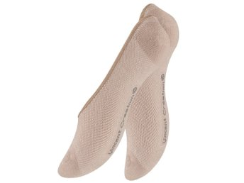 2-Pack Invisible Socks Stl.Onesize Beige
