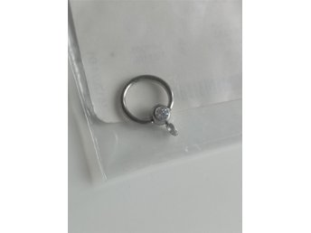 Silver ball closure ring piercing bling