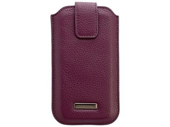 Purple Leather Case for Samsung Galaxy S4/ iPhone 6 ON1307