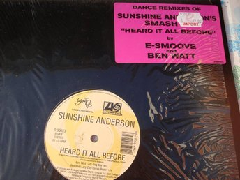 "SUNSHINE ANDERSON - HEARD IT ALL BEFORE 12"" R&B POP/ROCK"