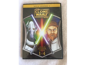 Clone Wars Hela säsong 1. Star Wars 4 dvd i box ca 473 min. Animerat