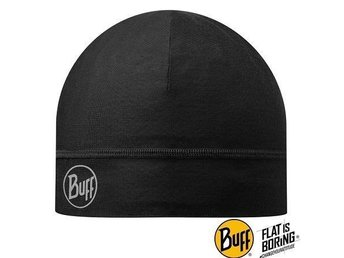 Buff – Microfiber 2 Layer Hat – Solid Black (Dam) svart mössa