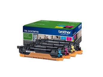 Toner Brother TN243CMYK, 4x1000 pages, Valuepack, Black, Cyan, Magenta, Yellow