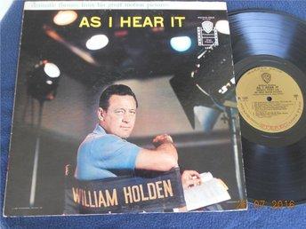 WILLIAM HOLDEN /Warren Barker - As I hear it, LP Warner Bros USA 1959 - Gävle - WILLIAM HOLDEN /Warren Barker - As I hear it, LP Warner Bros USA 1959 - Gävle