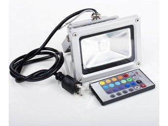 10W RGB LED Strålkastare Lampa med fjärrkontroll IP65 Vattentät - Sheung Wan - 10W RGB LED Strålkastare Lampa med fjärrkontroll IP65 Vattentät - Sheung Wan