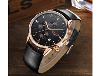 2017 GUANQIN Quartz Watch Unisex Top Brand Luxury Chronograph Sapphire Crystal