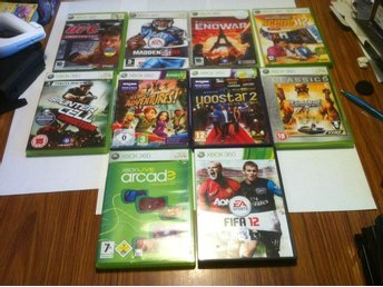 10 st Xbox 360 spel Saints Row 2/Scene It/Splinter Cell m.m