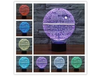 Colorful 3D Bulbing Night Light Star ...
