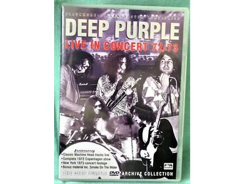 DVD  Hårdrock - Deep Purple - Live In Concert 72/73