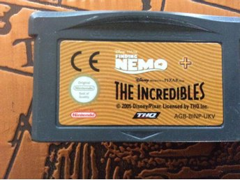 Finding Nemo + The Incredibles till Game Boy Advance