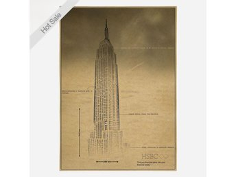 Vintage Poster Empire State Building New York