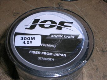 NY flätlina JOF 300m svart0,30mm styrka 22,7kg - Härnösand - NY flätlina JOF 300m svart0,30mm styrka 22,7kg - Härnösand