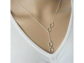 Halsband infinity Silverfärgad Kedja Geno.. (281190569) ᐈ Sustra på Tradera de5621fdf4f7f