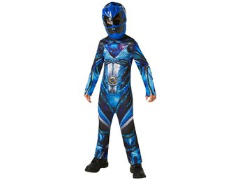 POWER RANGERS 110/116 cl (5-6 år) BLUE RANGER Dräkt med mask
