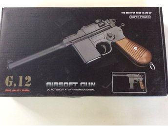 Air softgun G.12 med 2 magasin!
