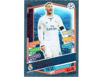 2016-17 Topps Champions League Sergio Ramos Real Madrid Limited Edition Bronze - Linghem - 2016-17 Topps Champions League Sergio Ramos Real Madrid Limited Edition Bronze - Linghem