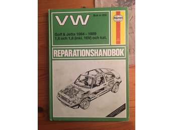 Reparationshandbok VW golf & jetta 1984 - 1989