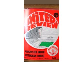 Program Manchester United v Nottingham Forest 70-71
