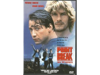 POINT BREAK - PATRICK SWAYZE, KEANU REEVES - UTGÅTT !! ( SVENSKT TEXT )