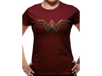 T-Shirt BATMAN VS SUPERMAN - WONDER WOMAN LOGO (FITTED) - Large