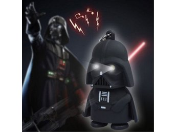 Cool Light Up LED Star Wars Darth Vader Med Ljud Nyckelring Nyckelring