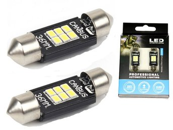 Canbus C5W 36mm spollampa Led m 6st 3020SMD 6000K 36 mm 2-pack festoon