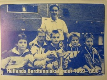 Hallands Bordtenniskalender 1989-1990, Bordtennis, MYCKET BRA SKICK
