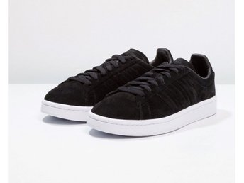 Adidas Originals Campus 38 2/3 stitch & turn svart mocka. Fina!!