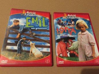 2 DVD Filmer , Astrid Lindgrens Emil och griseknoen & Lotta På Bråkmakargatan - Angered - 2 DVD Filmer , Astrid Lindgrens Emil och griseknoen & Lotta På Bråkmakargatan - Angered